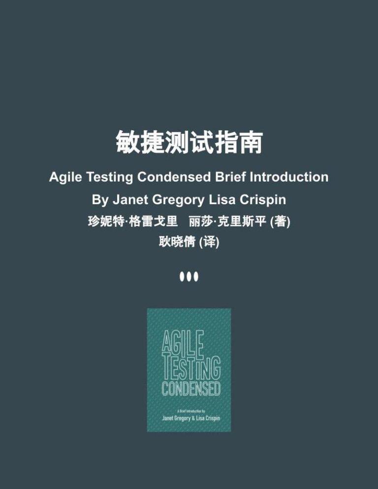 Agile Testing Condensed Chinese Translation
